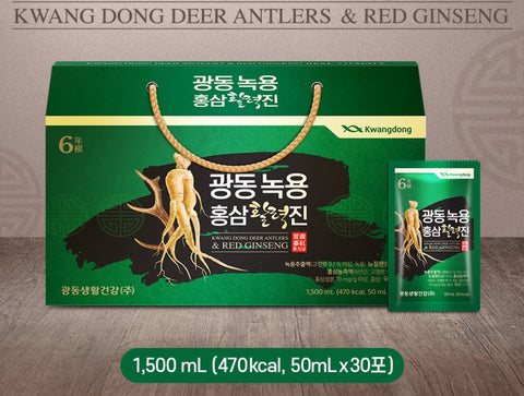 KWANGDONG DEER ANTLERS & RED GINSENG 1,500ml Korean Health Supplement