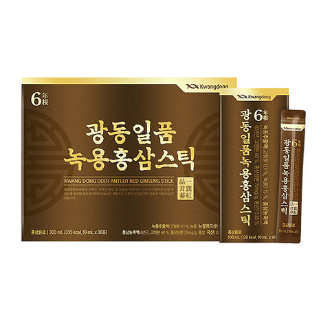 KWANG DONG Deep Antler Red Ginseng Sticks 10ml x 30sachets Korean