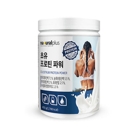 NATURAL PLUS Colostrum Protein Power 450g Health Muscle Supplements