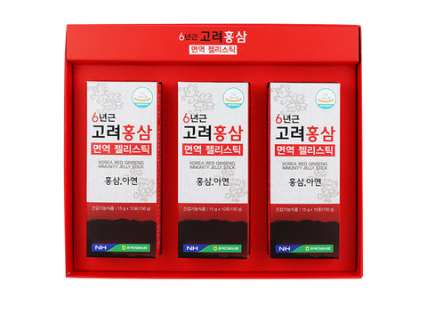 NONG HYUP Korea Red Ginseng Immunity Jelly Sticks 15g x 30pcs zinc