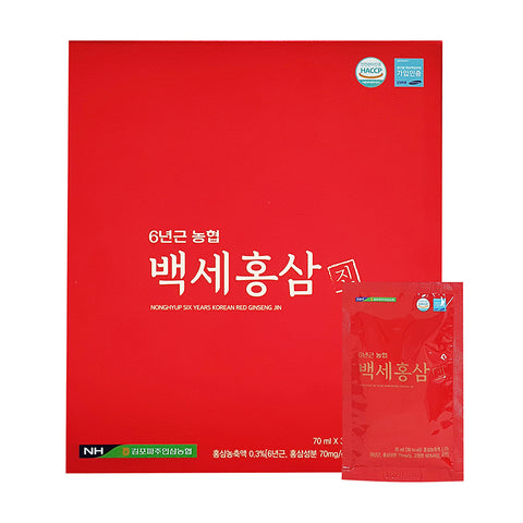 NONG HYUP Six Years Korean Red Ginseng Jin 70ml x 30p Health
