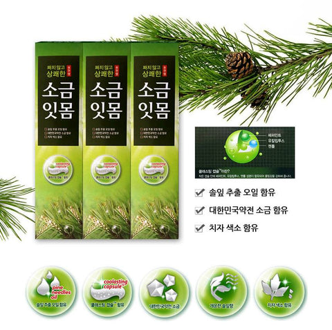Salt Gums Toothpaste 150g 3pcs Oral care Dental care Pine Needle