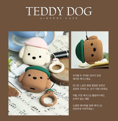 Teddy Dog Airpods Case Cute Animal Poodle Protection Apple Couple Item