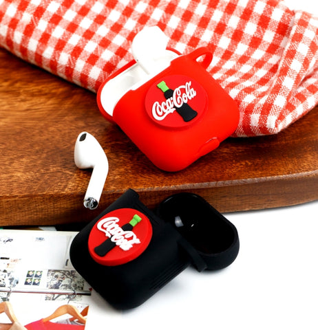 Drink Soda AirPods Case Coca Cola Black Apple Bluetooth Earphone Case