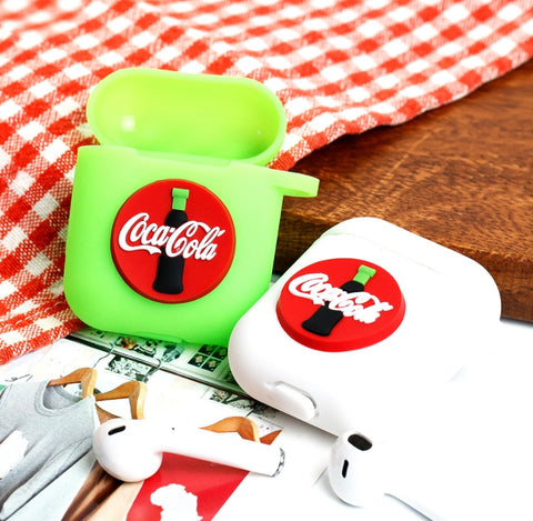 Drink Soda AirPods Case Coca Cola Neon Green For Apple Earphone Case