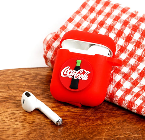 Drink Soda AirPods Case Coca Cola Red Apple Bluetooth Earphone Case