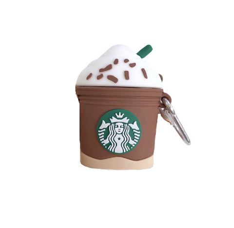 Starbucks Coffee AirPods Protective Cover Case For Apple Silicone Hot