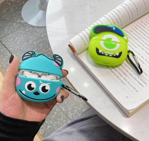 Monsters Inc Mike AirPods Protective Cover Case For Apple Silicone