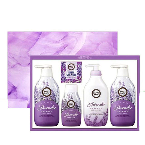 HAPPY BATH Lavender Edition Gift Sets Bath Supplies Shower Korea