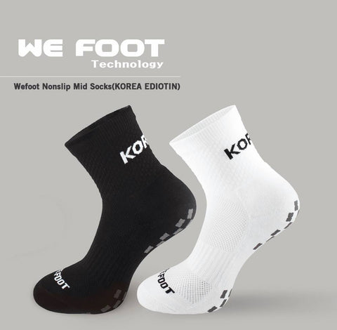 Wefoot Nonslip Mid Black Functional Socks Korea Edition Sports Foots