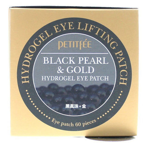 PETITFEE Black Pearl Eye Patches 60pcs Pads Masks Anti-aging Wrinkles Moisture
