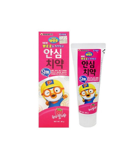 PORORO Ansim No Fluoride Toothpaste 80g Natural Strawberry flavor Kids