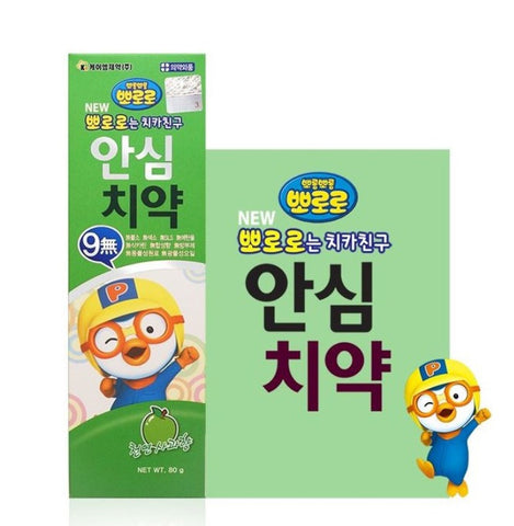 PORORO Ansim No Fluoride Toothpaste 80g Natural apple flavor Kids Oral