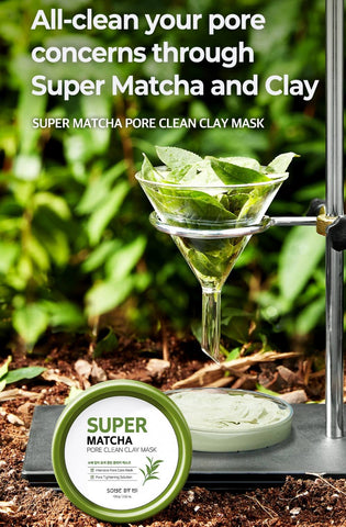 SOME BY MI Super Matcha Pore Clean Clay Mask 100g Skin care Cosmetics