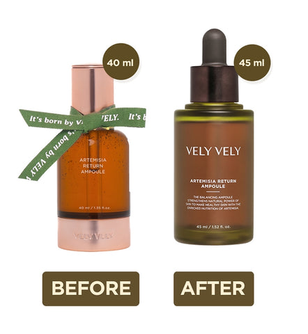 VELY VELY Artemisia Return Ampoule 45ml Facial Skin Care Hydration New