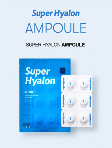 VT Super Hyalon Ampoule 1.5ml*6 Count Dry Skin Care Moisture Soothing