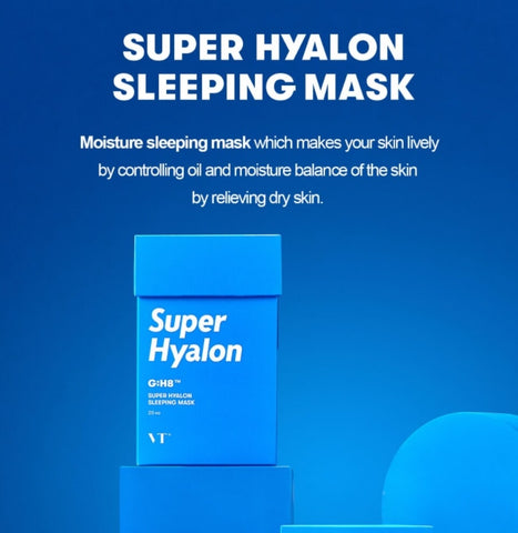 VT Super Hyalon Sleeping Mask 20 Sticks Moisturizing Korean Skin Care