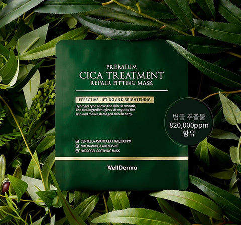 Wellderma Cica Treatment Repair Fitting Mask Soothes Improves Wrinkles