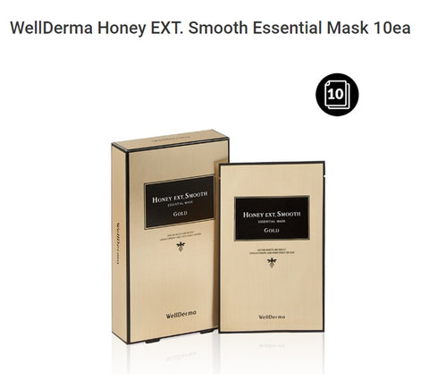 WellDerma Honey EXT. Smooth Gold Essential Mask 10ea Womens Cosmetics