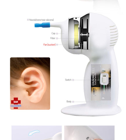 Ear Cleaners Wax Removers Cordless Vacuum Painless Suction Made in Korea