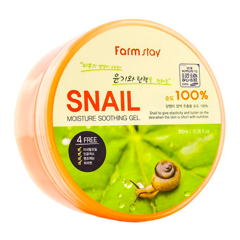 Farmstay 100% Snail Moisture Soothing Gels 300ml