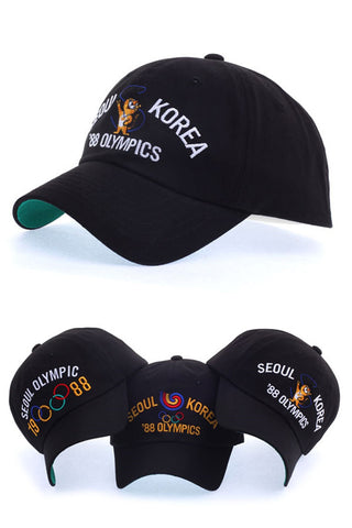 1988 Seoul Olympic Flag Hodori Mascot Baseball Caps Kpop Fashion Hats