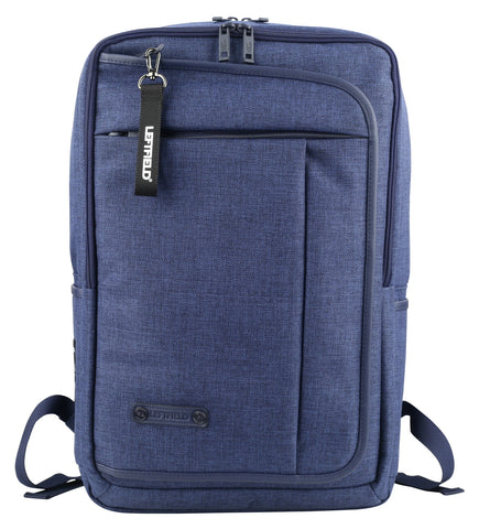 Navy Blue Square Canvas School Laptop Backpacks Travel Hiking Bags
