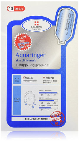 Leaders Clinic Aquaringer Skin Care Masks 10 Sheets