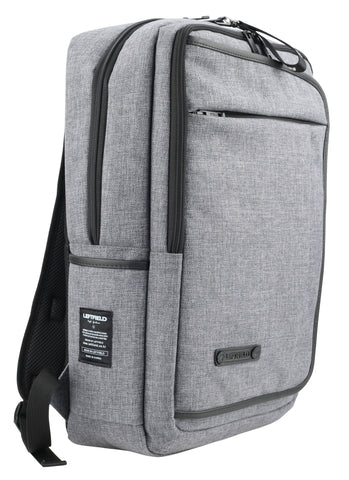 Gray Square Canvas School Laptop Backpacks Travel Hiking Bags