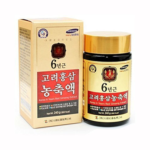 100% Pure Korean Red Ginseng Extract Gold 6 years Root 240g