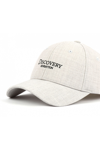 Gray Discovery Graphic Baseball Caps
