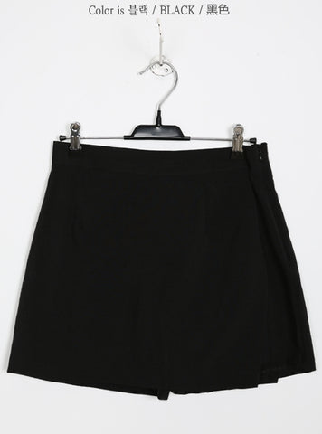 Wrap Linen Shorts Mini Skirts