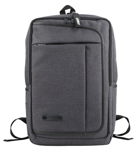 Black Square Canvas School Laptop Backpacks Travel Hiking Bags