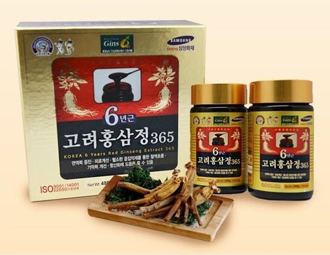 Korean 6 Years Root Red Ginseng Extract 480g [240g × 2 Bottle] panax