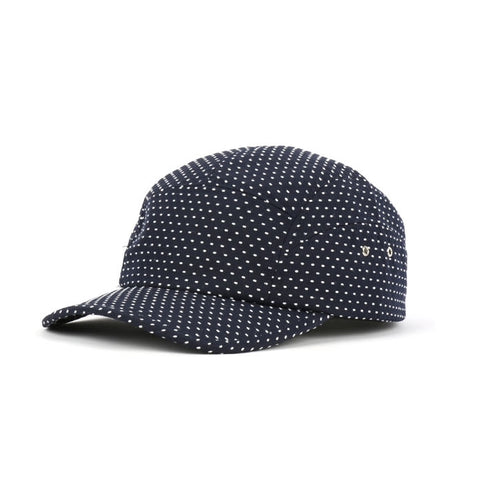 Navy Blue Polka Dots Cadet Caps