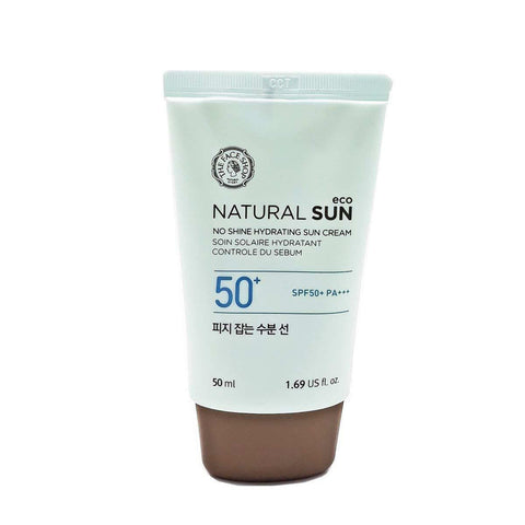 THE FACE SHOP Natural Sun Eco No Shine Hydrating Sun Creams (50ml) SPF50+/PA+++