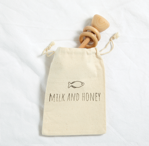 Drumstick Wooden Rattle - Milk&Honey Brand - , drumstick-wooden-rattle, Coming Soon
