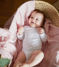 Load image into Gallery viewer, Misty Pink Muslin Swaddle - Milk&Honey Brand - , misty-pink-muslin-swaddle,