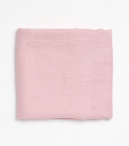 Misty Pink Muslin Swaddle - Milk&Honey Brand - , misty-pink-muslin-swaddle,