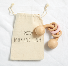 Load image into Gallery viewer, Vivian Wooden Rattle - Milk&Honey Brand - , vivian-wooden-rattle,