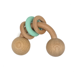 Zelda Wooden Rattle - Milk&Honey Brand - , zelda-wooden-rattle,