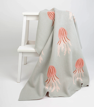 Load image into Gallery viewer, Jellyfish Baby Blanket - Milk&Honey Brand - , jellyfish-baby-blanket,