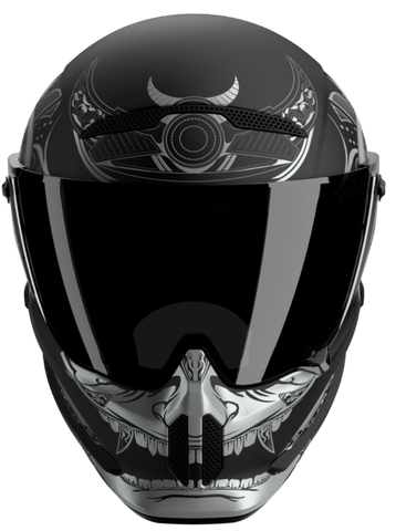 Casque Ruroc Atlas 2.0 platinum ronin de face