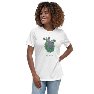 HEART Flower – Women's Relaxed T-Shirt