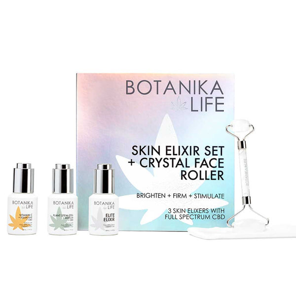 SKIN ELIXIR SET + CRYSTAL ROLLER KIT BOX