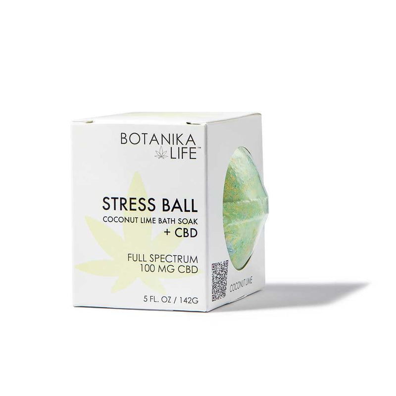 Stress Ball - Coconut Lime Bath Soak with 100MG FULL SPECTRUM CBD