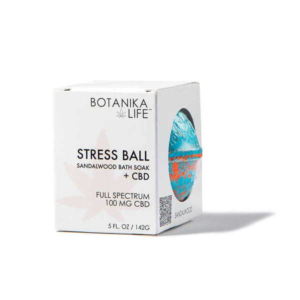 Stress Ball - Sandalwood Bath Soak with 100MG CBD