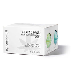 Stress Ball - 4-Pack Variety Bath Soaks with 100MG CBD
