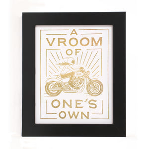 """A VROOM OF ONE'S OWN"" PRINT"