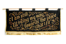 Load image into Gallery viewer, *RAFFLE* Hand-Embroidered Banner: Roxane Gay